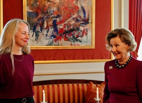 Ciara Phillips and HM Queen Sonja at the Royal Palace in Oslo