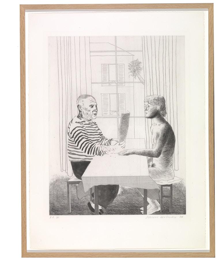 """Hockney, David,  """"Artist and Model"""" 1973 - 1974"""