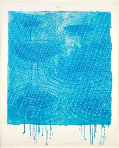 "Hockney, David, ""Rain"" from ""The Weather Series"" 1973"