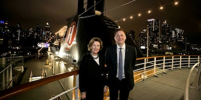 HM Queen Sonja and CEO Daniel Skjeldam in New York 2018