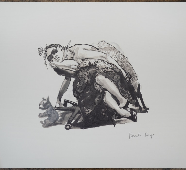 """Rego, Paula """"Girl who has been sick resting with her favourite cuddly"""",  2000"""