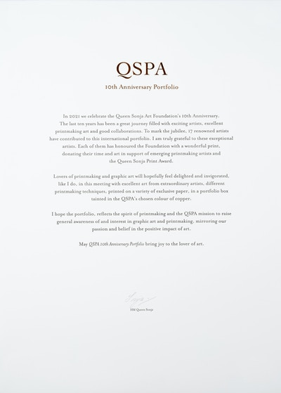 QSPA 10th Anniversary Portfolio frontispiece